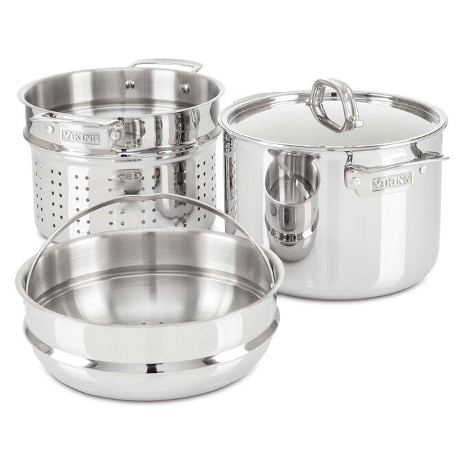 Viking Pasta Pot and Steamer, 8 qt.
