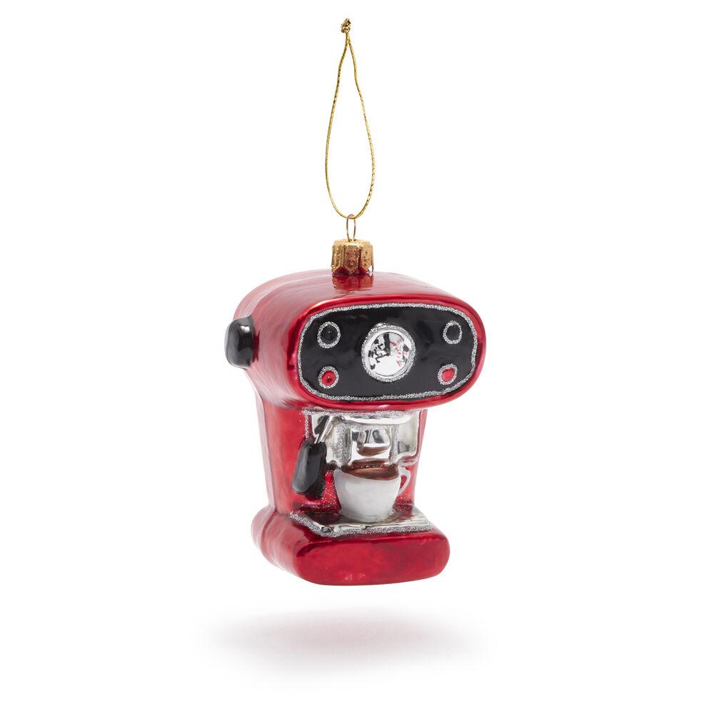 Espresso Machine Glass Ornament