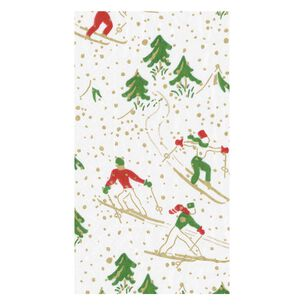 Winter Sports Guest Napkins, Set of 15