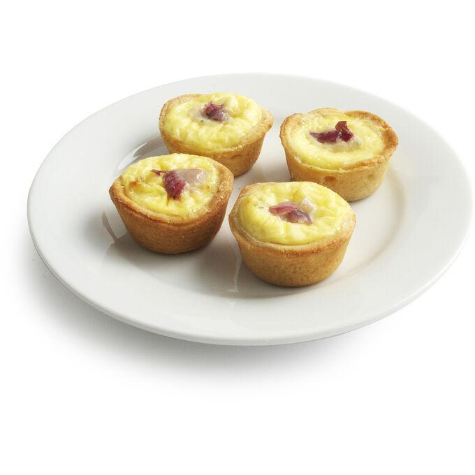 Mascarpone, Bleu Cheese and Red Onion Tarts, 45-piece Tray