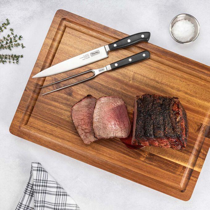 Viking Acacia Wood Butcher Block Prep and Serving Board