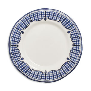 Gingham Salad Plate