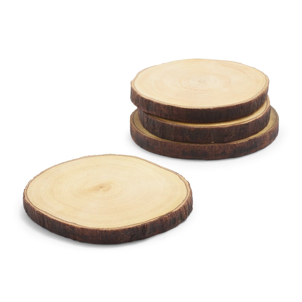 Wood Coasters, Set of 4