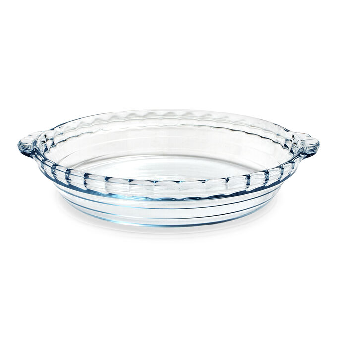 ÔCuisine Glass Pie Dish with Handles, 9""