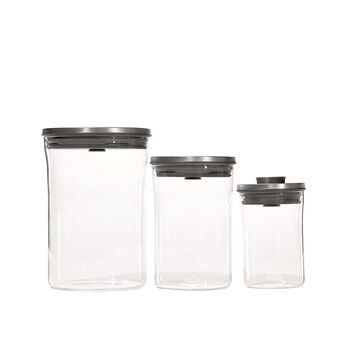 OXO Steel Graduated POP Canister, Set of 3