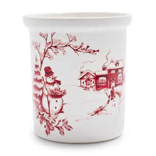 Snowy Lane Utensil Crock