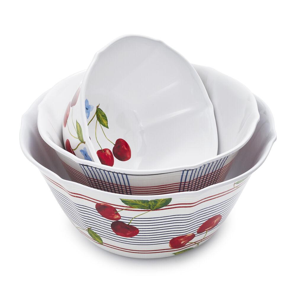 Pique-Nique Melamine Bowls, Set of 3