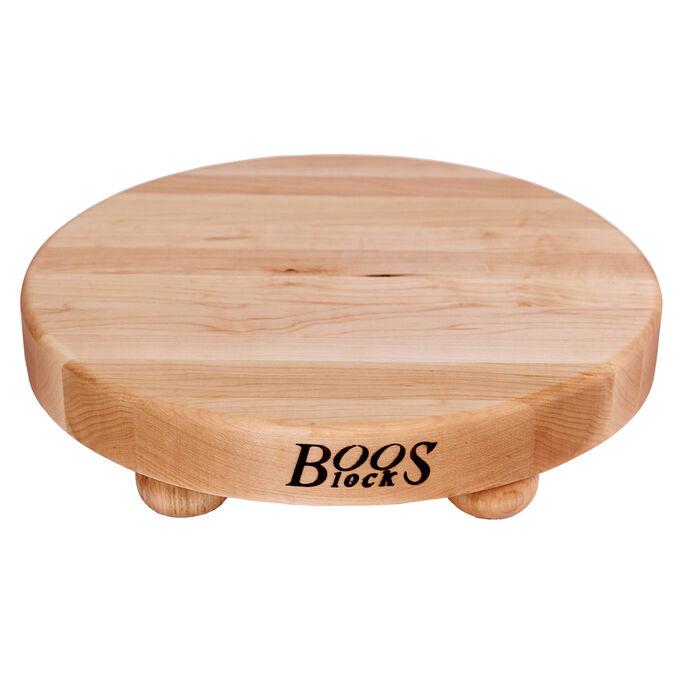 "John Boos & Co. Maple Edge-Grain Cutting Board with Feet, 12"""