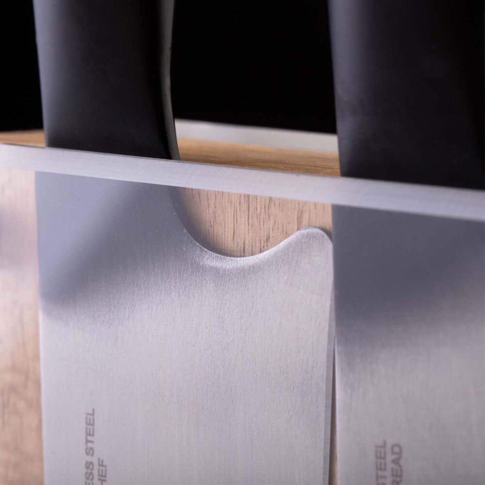 Schmidt Brothers Cutlery Acacia Downtown Knife Block