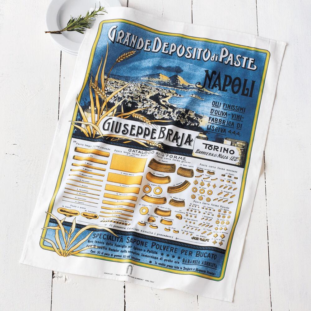 "Vintage-Label Italian Pasta Kitchen Towel,  30"" x 22"""