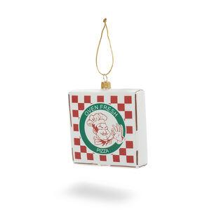 Pizza Box Glass Ornament
