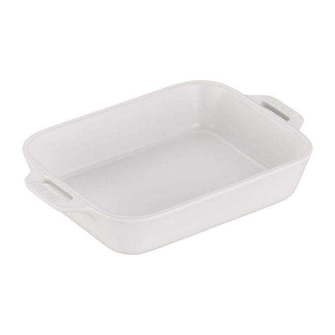 Staub Rustic Ceramic Bakers, Matte White