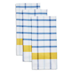 Mercado Check Kitchen Towels, Set of 3