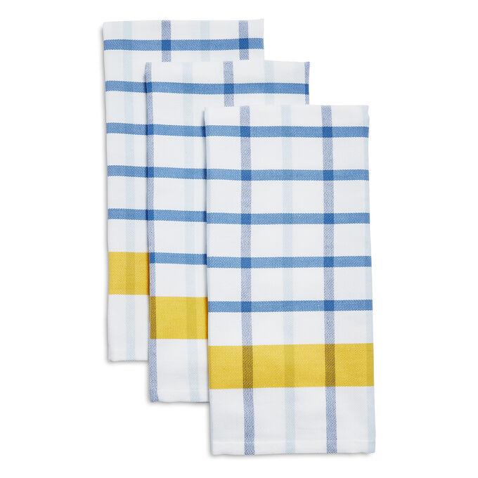 Mercado Check Kitchen Towels, Set of 3