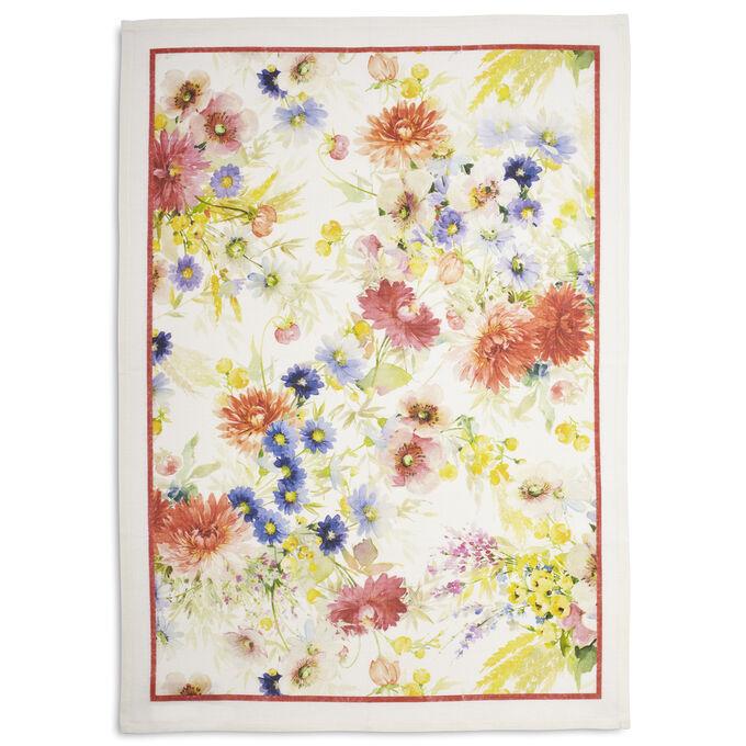 """Floral Georgette Linen Kitchen Towel, 28"""" x 20"""""""