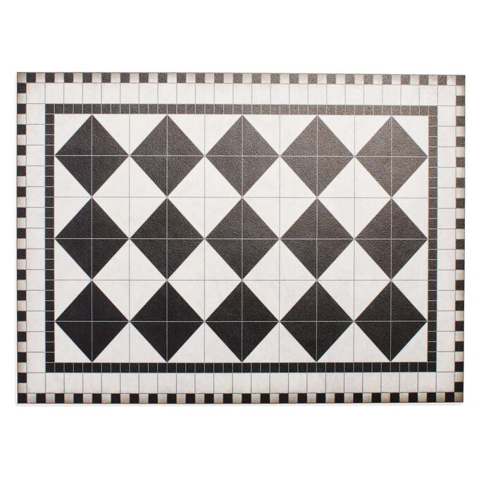 Sur la Table Black and White Tile Vinyl Placemat