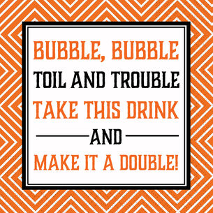 """Bubble Bubble"" Cocktail Napkins, Set of 20"