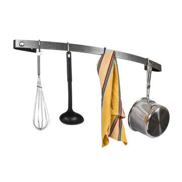 Enclume Hammered Steel Curved Utensil Bar Wall Racks