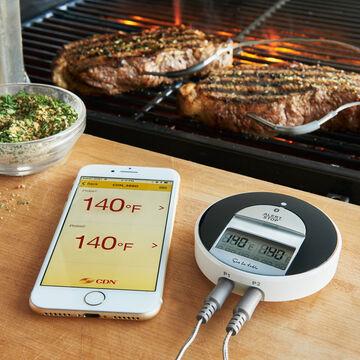 Sur La Table Bluetooth Dual-Probe BBQ Thermometer & Timer