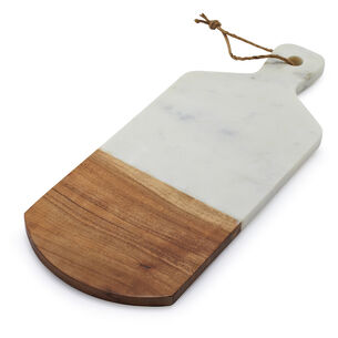 Marble and Acacia Wood Cheese Paddle