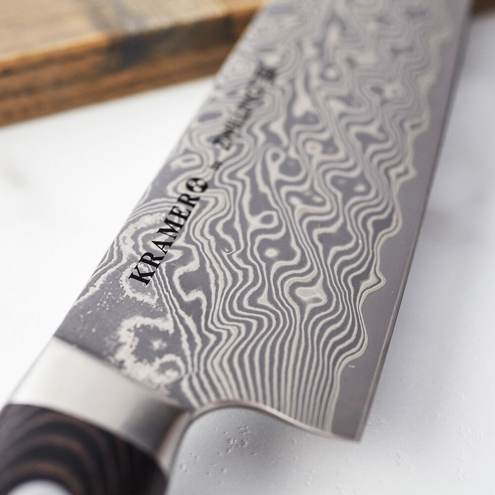 Bob Kramer Stainless Damascus Narrow Chef's Knife by Zwilling J.A. Henckels, 8""