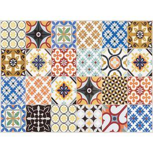 Mixed Tile Vinyl Placemats, Set of 4