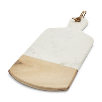 Marble and Acacia Wood Serving Paddle