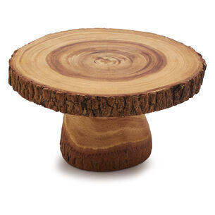 Wood Slice Beverage Stand
