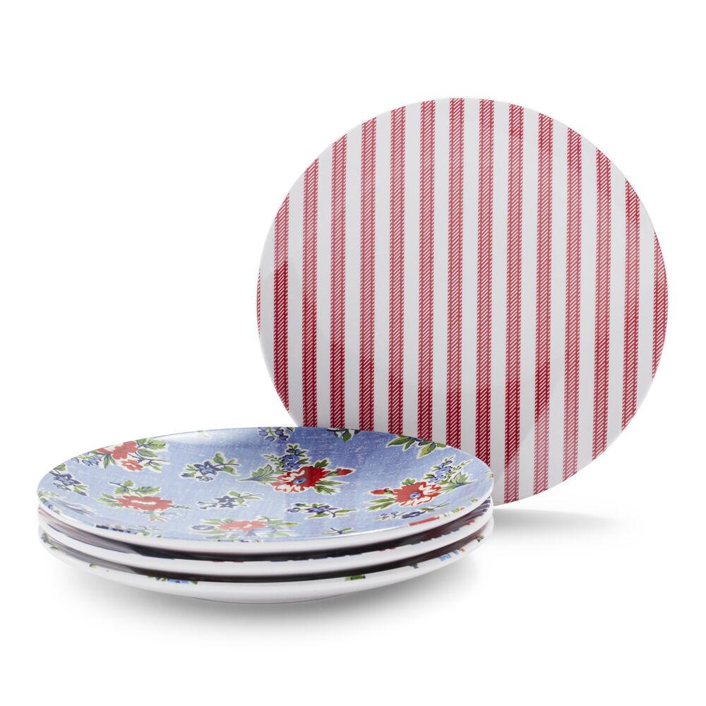 Summerhouse Assorted Appetizer Plates, Set of 4