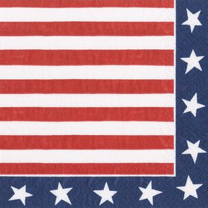 Red, White and Blue Lunch Napkins, Set of 20