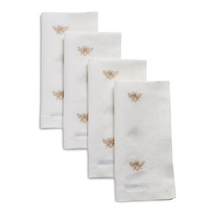 Gold Bee Napkins, Set of 4