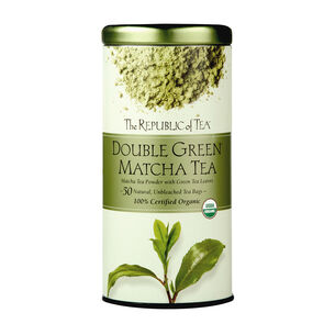 The Republic of Tea Double Green Matcha Tea, 50 Bags