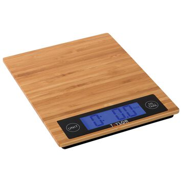 Taylor Bamboo Digital Kitchen Scale, 11 lb.