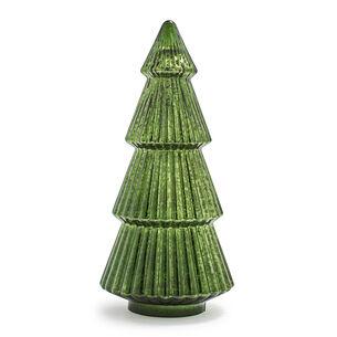 Decorative Mercury Glass Green Tree