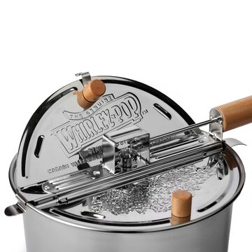 Stainless Steel Whirley Pop with Cello Popcorn Set