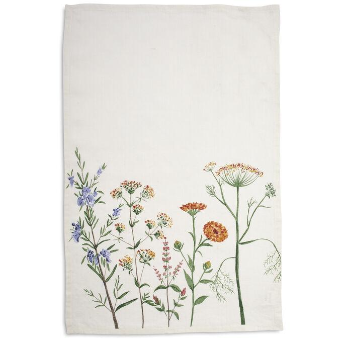 """Linen Floral Towel, 28"""" x 18"""""""