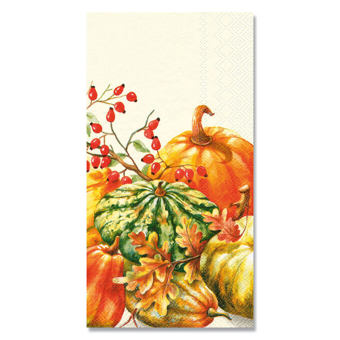 Calabaza Cream Paper Guest Napkins, Set of 16