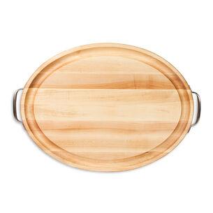 John Boos & Co. Oval Edge-Grain Maple Cutting Board