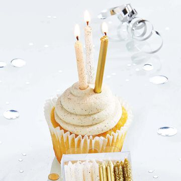 TAG Sparkle N Shine Short Candles, Set of 24