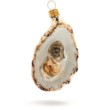 Half Shell Oyster Glass Ornament
