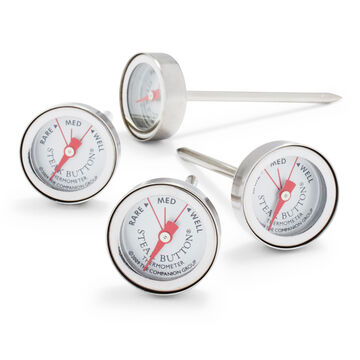 Sur La Table Stainless Steel Steak Button Thermometers
