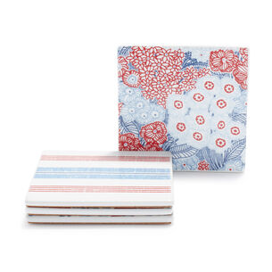 Pique-nique Floral Coasters, Set of 4