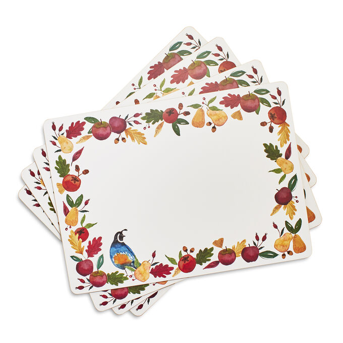 Fall Harvest Cork Placemats, Set of 4