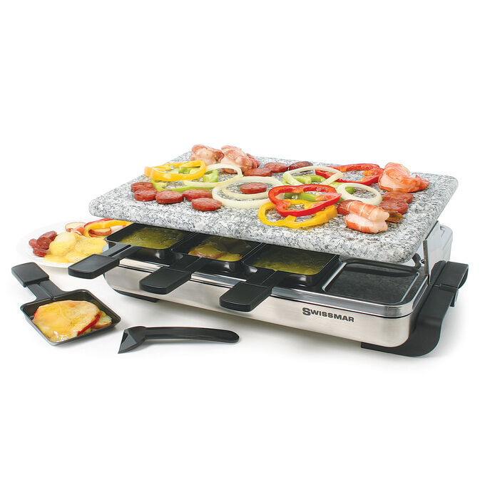 Stelvio Raclette Party Grill with Granite Stone Top