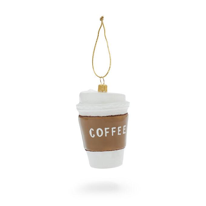 To-Go Coffee Glass Ornament