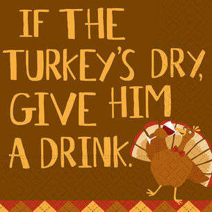 Turkey Dry Cocktail Napkins, Set of 20
