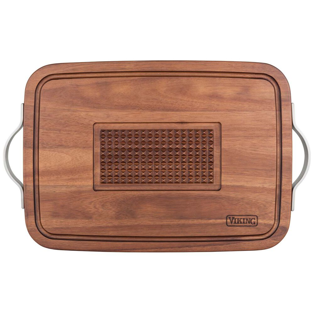 Viking Acacia Wood XL Carving Board with Juice Groove