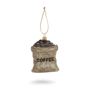 Coffee Beans Glass Ornament