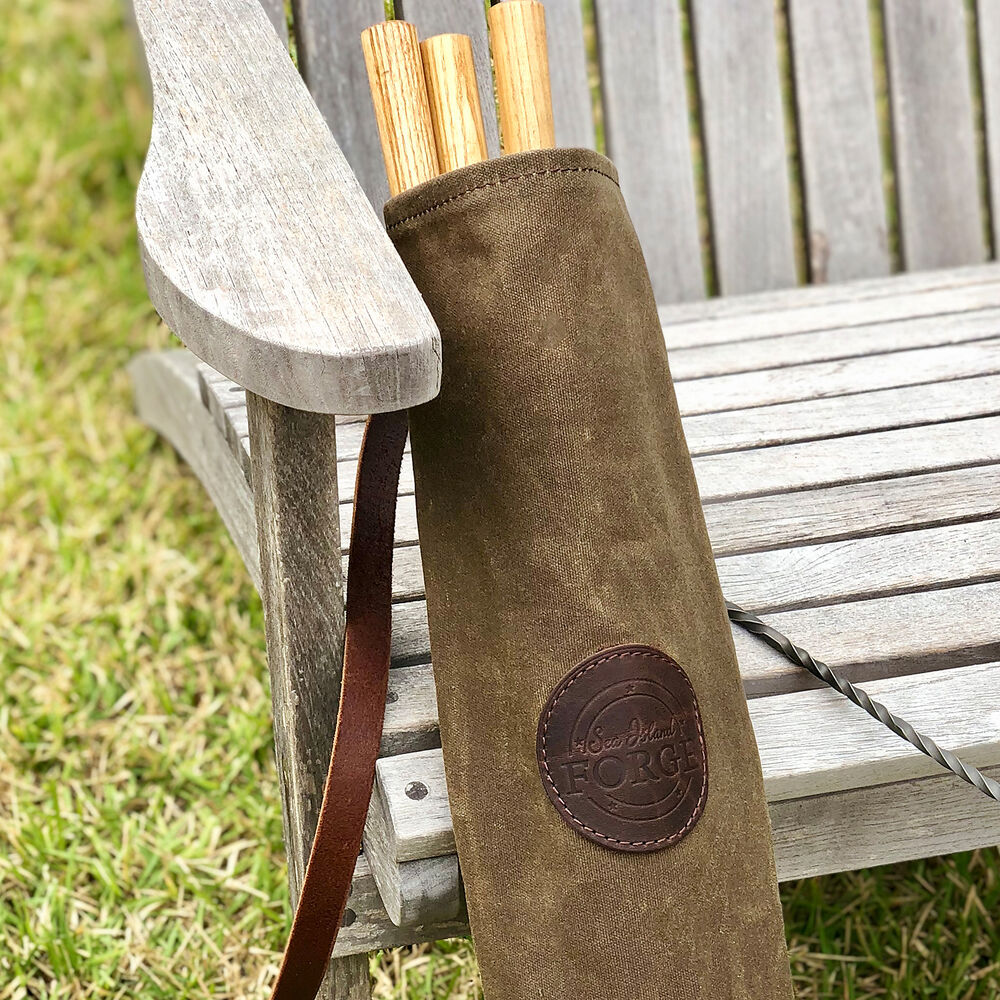 Sea Island Forge Hand-Twisted Roasting Forks and Quiver Set