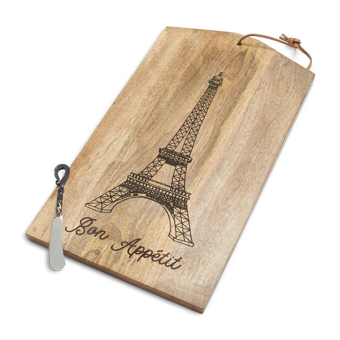 Eiffel Tower Cheese Board and Spreader Set